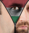 Unzipping face to flag of Hungary