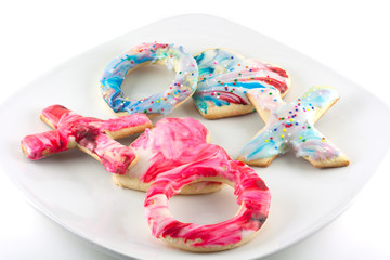 Plate of Valentine's Day Sugar Cookies