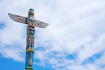 Weathered Totem Pole