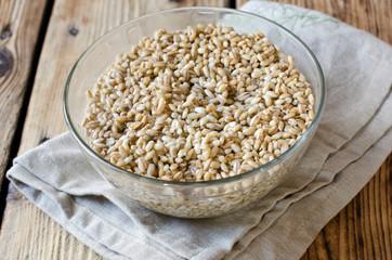 Pearl barley in a bowl