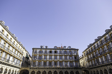 Typical square of San Sebastian