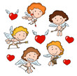 Group of cute cupids.