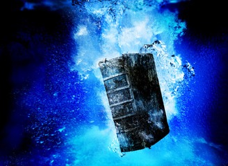 book in water
