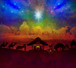 Obrazy na płótnie, fototapety, zdjęcia, fotoobrazy drukowane : Biblical scene - birth of Jesus in Bethlehem.