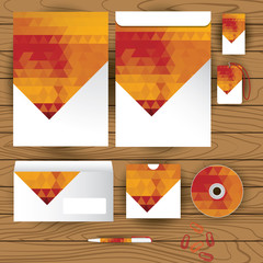 Vector corporate identity, triangle pattern design, geometric