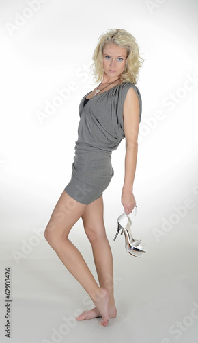 Blondine mit high heels