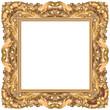 Cadre rococo carré or