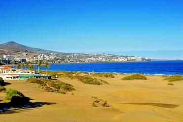Playa del Ingles in Maspalomas, Gran Canaria, Spain