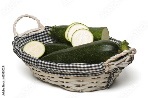 courgette vegetable isolated