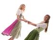Tanzende Mädchen in Tracht