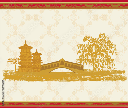 Asian beautiful abstract landscape