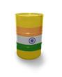 Barrel with Indian flag