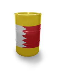 Barrel with Bahraini flag