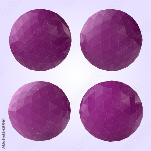set of abstract orchid spheres of triangles