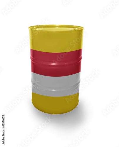 Barrel with Indonesian flag