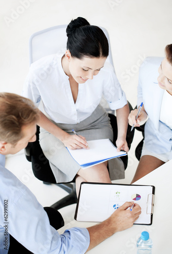business team having discussion in office