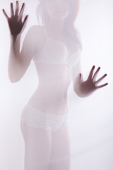 Diffuse sexy woman shape