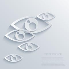 Vector modern eyes background. Eps 10