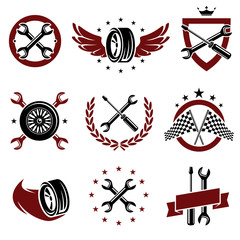 Car service set. Vector