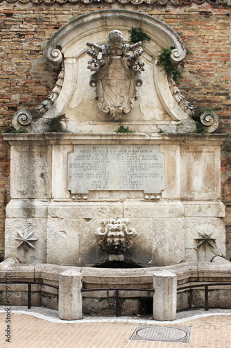 Fountain of Benedict XIII in Urbino, Italy
