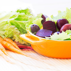 Organic Carrot and Beetroot Salad