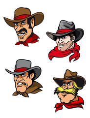 Cartoon cowboys set