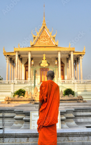Monk at the Silver Pagoda, Phnom Penh