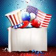 Independence day - vector background with empty paper
