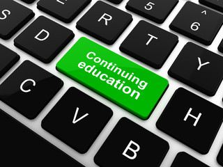 Education concept: computer keyboard with word Continuing