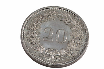 20 swiss centime