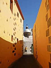 yellow walls of an old city