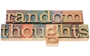 random thoughts in wood type