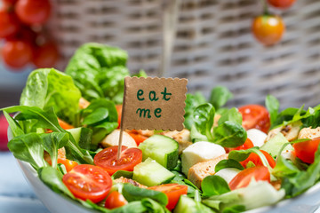 Tasty spring vegetable salad
