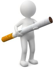 Männchen mit Zigarette