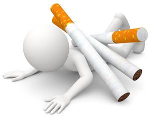 Männchen Raucher Sucht Belastung