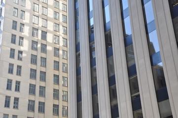 Facade of office buildings