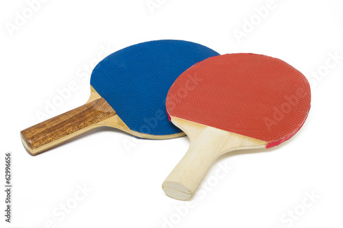 two ping-pong rackets