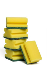 pile of  cleaning sponges