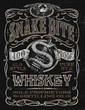 Vintage Whiskey Label T-shirt Graphic