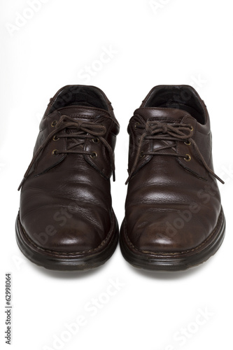 pair of executive brown shoes