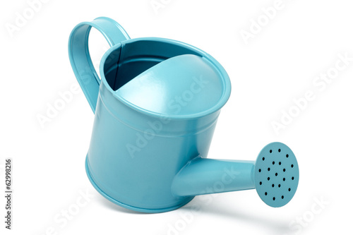 blue water sprinkler isolated on a white background.