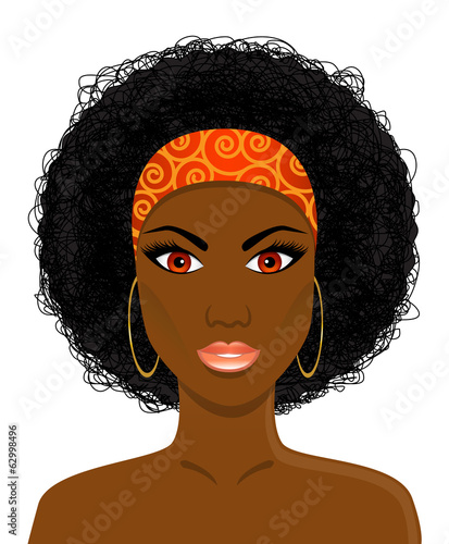 Face of beautiful African black woman