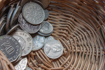 Coins in a basket