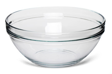 empty salad bowl isolated on a white background.
