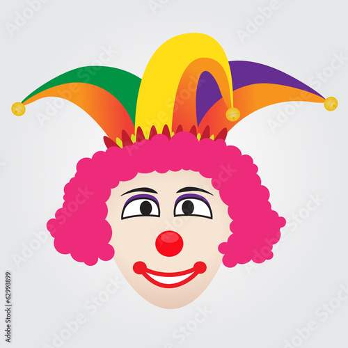 Joker Face With Jester Hat