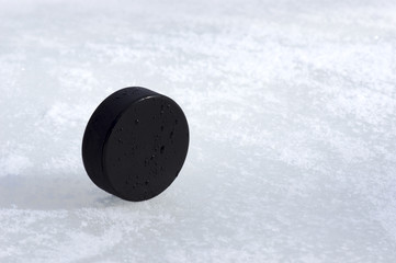 puck on the edge