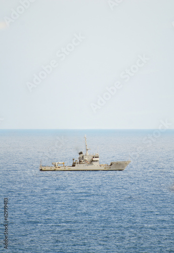 Patrol ship in international waters.