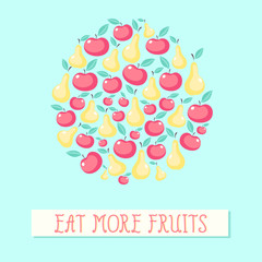 Beautiful vector background with fruits
