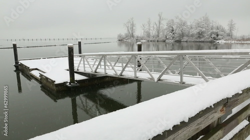 Fraser River Pier Float, Winter, Richmond
