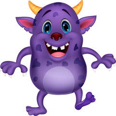Cute monster cartoon